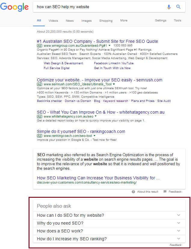 Google Quick Answers