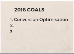 Conversion optimisation main goal
