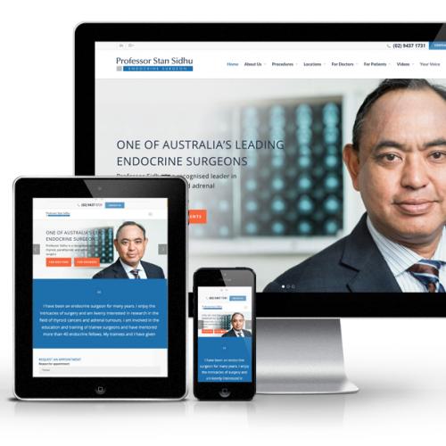 doctor website design by webbuzz