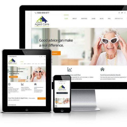 financial advisers website design