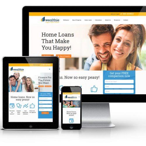 mortgage broker website design by Webbuzz