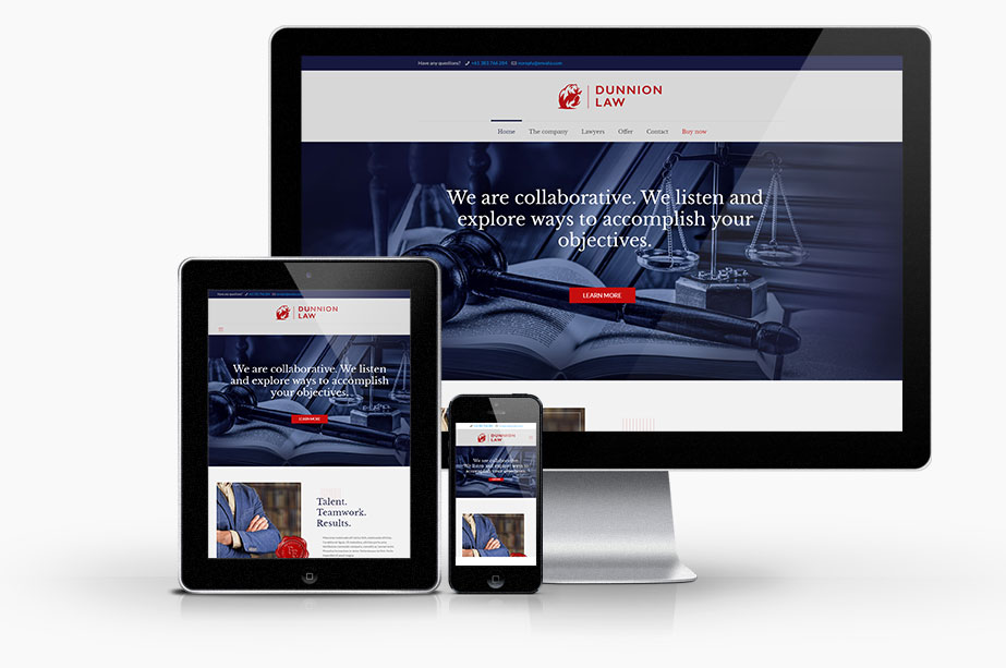 Solicitor website design template