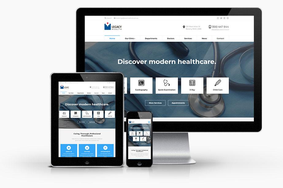 Healthcare Website Design Example