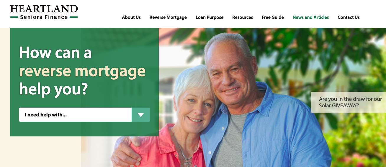 The Heartland Seniors Finance homepage