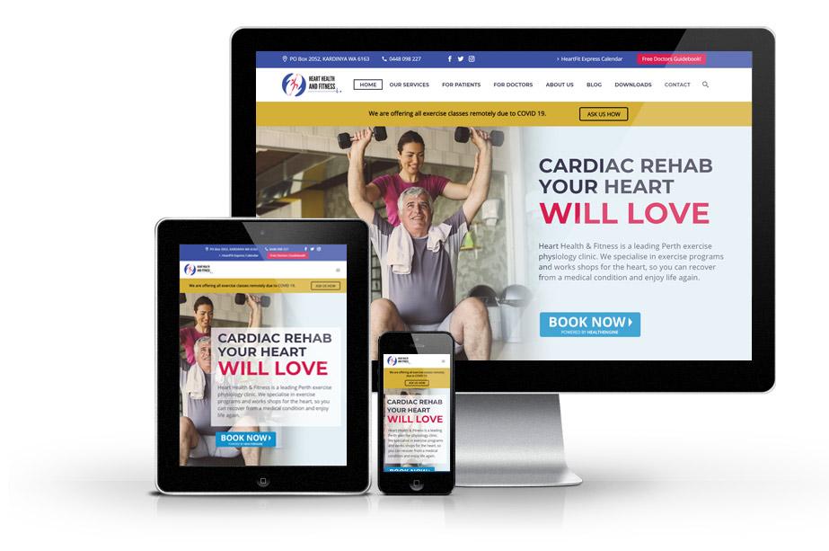 Medical Website Design hearthealth web mockup 1 » October 20, 2020