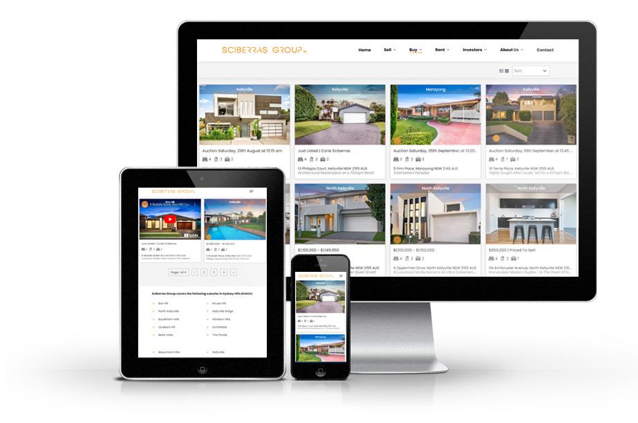 Real Estate Website Design sciberras web mockup buy 3 » October 25, 2021