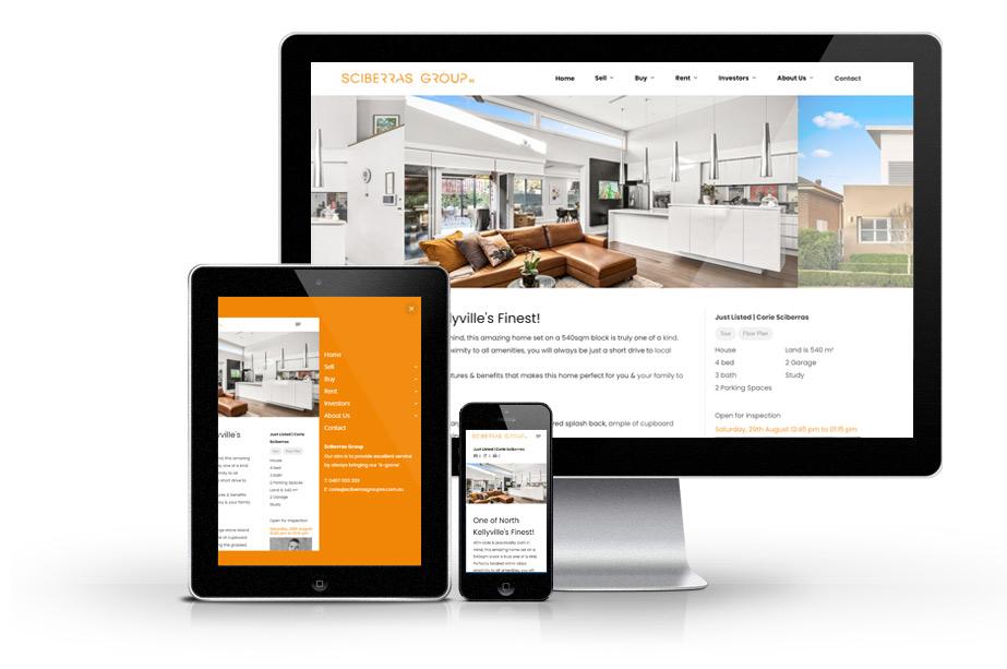 Real Estate Website Design sciberras web mockup listing 4 » October 25, 2021