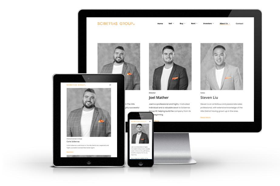 Real Estate Website Design sciberras web mockup team 2 » October 25, 2021